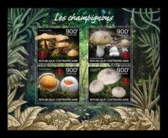 CAR 2019 Mih. 9081/84 Flora. Mushrooms MNH ** - Repubblica Centroafricana
