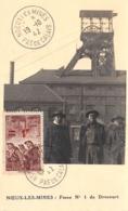 1942 - Carte Maximum - N°151180 - Fosse N°1 De Drocourt - Cachet - Noeux-les-mines - Noeux Les Mines