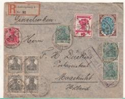 Guerre 1914/1918   Enveloppe   D'Allemagne  Vers Les Pays Bas    Voir T  2 Em  Scan - Bezetting 1914-18