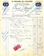 34.HERAULT.BEZIERS.ENTREPRISE DE COUVERTURES EN ARDOISES.DAVID ALBERT 17 RUE SOLFERINO. - Petits Métiers
