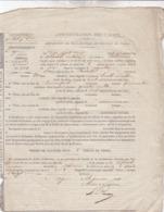 RARE / 1843 / BORDEAUX / AMPLIATION DE  DECLARATION DE CULTURE DU TABAC - Documents