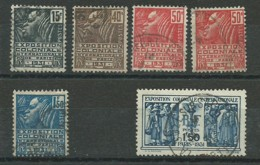 FRANCE: Obl., N° YT 270 à 274 + 272a, Série, TB - Frankreich
