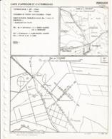 Carte D'approche Et D'atterrissage A Vue PERREGAUX (algérie ) Avril1957 - Cartes