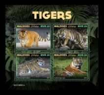 Maldives 2019 Mih. 8535/38 Fauna. Tigers MNH ** - Maldives (1965-...)