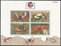 1994 Thailand PHILAKOREA'94: Crabs Minisheet (** / MNH / UMM) - Crustaceans