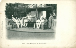 Indochina, LAOS, Les Européens De Savannakhet (1899) Postcard - Laos