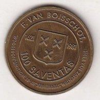 100 SAVENTAS 1621-1981 F. VAN BOISSCHOT. - Gemeentepenningen