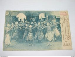 C.P.A. - Asie - Singapour - Siamene Dancing Girls - 1909- SUP (E66) - Singapore