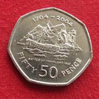 Gibraltar 50 Pence 2004 KM# 1050  Gibilterra - Gibraltar