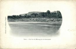 Indochina, LAOS, Une Vue Du Mékong Près De Kemmarat (1899) Postcard - Laos