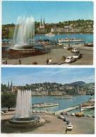 2 Stk Ansichtskarten LUZERN Schiff Auto Lastwagen - LU Lucerne