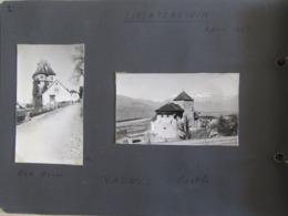 Lot De 2 Photographies De VADUZ Castle & Red House Au Liechtenstein - Avril 1942 - La Maison Rouge & Le Château - Luoghi
