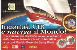 2002 €0,41SCUOLA MILITARE NAVALE MOROSINI SU CARTOLINA CID FOOD - Pubblicitari