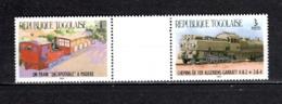 TOGO N° 1158 + 1160 SE TENANT  NEUFS SANS CHARNIERE COTE  ? €  TRAIN  RARE  VOIR DESCRIPTION - Togo (1960-...)