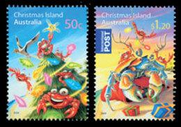 CHRISTMAS ISLANDNoël,Sapin 08 2v Neuf ** MNH - Christmas Island