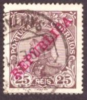 """Portugal 1910 - Rei D. Manuel II  25r. Sobrecarga """" REPUBLICA """" 175 Mundifil - 1910-... République"""