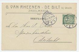 Firma Briefkaart De Bilt 1910 - Zadelmaker - 1891-1948 (Wilhelmine)