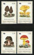 BOSNIA HERZEGOVINA  1998  MUSHROOMS  SET   MNH - Champignons