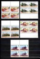 TOGO N° 1158 à 1162  BLOCS DE QUATRE  NEUFS SANS CHARNIERE COTE  10.40€ TRAIN - Togo (1960-...)