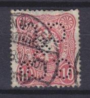 Germany Reichspost Perfin Perforé Lochung 'CC & G. Co.' 10 Pf. Germania ..NNSCHER 1899 Cancel (2 Scans) - Abarten