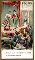 CHROMO CHOCOLAT GURIN BOUTRON LE THEATRE A TRAVERS LES AGES UN CAFE CONCERT POPULAIRE - Guérin-Boutron