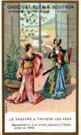 CHROMO CHOCOLAT GURIN BOUTRON LE THEATRE A TRAVERS LES AGES DRAME JAPONAIS - Guérin-Boutron