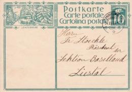 Postkarte 1929.  115 Lenzerheide. Von Willigen Nach Liestal - Entiers Postaux