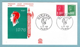 FDC France 1976 - Marianne De Bequet - YT 1891 & 1892 - Paris - FDC