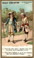 CHROMO CHOCOLAT GUERIN BOUTRON LES MOTS HISTORIQUES LOUIS XIV - Guérin-Boutron