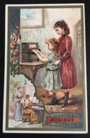 Fresnes Nord Chicorée Legrand Baboye Superbe Chromo Laas  Musique Piano  Jeu Enfant - Chromos