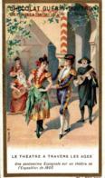 CHROMO CHOCOLAT GUERIN BOUTRON LE THEATRE A TRAVERS LES AGES PANTOMINE ESPAGNOLE - Guérin-Boutron