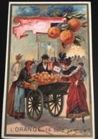 Fresnes Nord Chicorée Legrand Baboye Superbe Chromo Laas Valence Petit Métier Marchande Oranges - Chromos