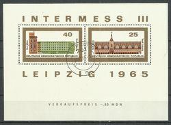 "DDR Bl. 23/24 ""Blocksatz Zu Intermess III, Leipzig 1965""  Gestempelt.Mi 11,00 - DDR"