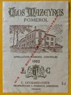 11627 -  Clos Mazeyres 1982 Pomerol - Bordeaux