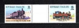 TOGO N° 1162 + PA 528 SE TENANT  NEUFS SANS CHARNIERE COTE  ? € TRAIN RARE  VOIR DESCRIPTION - Togo (1960-...)