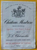 11629 -  Château Montrose 1977 Saint-Estèphe - Bordeaux