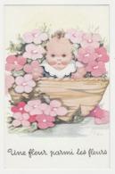 Illustrateur ILDA Béatrice Mallet N°17/4 Fillette Une Fleur Parmi Les Fleurs - Mallet, B.
