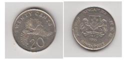 SINGAPOUR - 20 CENTS 1985 - Sierra Leona