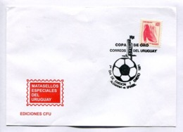 COPA DE ORO, ALEMANIA VS. BRASIL - URUGUAY YEAR 1981 ENVELOPE SPC -LILHU - Football