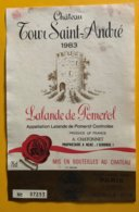 11631 -  Château Tour Saint-André 1983 Lalande De Pomerol - Bordeaux