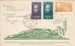 ESPAGNE - 1955 - FDC - 4è Centenaire De La Mort D'Ignace De Loyola - FDC