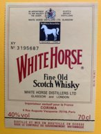 11642 - White Horse Contre étiquette Concours America's Cup 1987 - Whisky
