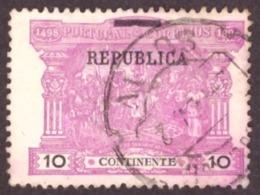 "Portugal 1911 - Sobre Selos De Porteado Do Continente  10r. Sobrecarga  "" REPUBLICA""  Mundifil 193 - 1910-... République"