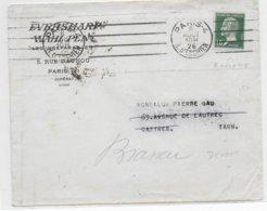 1926 - ROULETTE YT 171 PASTEUR RARE Sur DEVANT De LETTRE De PARIS => CASTRES - 1922-26 Pasteur