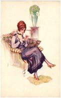 A. BERTIGLIA - Femme Assise Dans Un Fauteuil - Bertiglia, A.