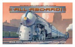 Carnet 20 CP Prétimbrées All Aboard ! - En Voiture ! - 1998 - Locomotives - 1981-00