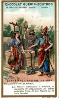 CHROMO CHOCOLAT GUERIN BOUTRON LE THEATRE A TRAVERS LES AGES UNE PASTORALE CHEZ LES HEBREUX - Guérin-Boutron