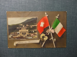 Saluti Da Mendrisio Panorama 1911 (6129) - TI Ticino