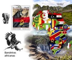 ANGOLA - 2019 - African Flags - Perf Souv Sheet - Angola