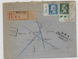 1924 - PASTEUR COIN DATE Sur LETTRE RECOMMANDEE De PROVINS (SEINE ET MARNE) =>PARIS (CACHET POSTE RESTANTE DOS)=>RETOUR - Postmark Collection (Covers)